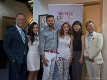 Left to Right: Joseph Manzoli, Halcyon Tan, Fernando Zerillo, Angela Palmieri-Zerillo, Mrs. Chizuko Nakayama, Yasunori Nakayama (Consul General Of Japan)