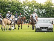 A Maserati momentarily steals the show