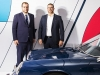 Left to right: Marc Ouayoun, president and CEO of Porsche Canada, and Achim Stejskal, director of the Porsche Museum, pose with the 1967 Porsche 912 | Photos by Dolce Magazine