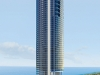 An exterior view of the upcoming Porsche Design Tower in Sunny Isles Beach, Florida
