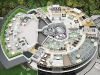 A top view of the Porsche Design Tower luxury-infused fifth-floor Amenity Deck