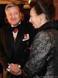 retired hon lt col justin fogarty with princess anne