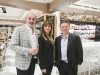 Frank Luchetta, president of Pusateri's, Ida Pusateri, owner of Pusateri's, and John Mastroianni, VP of merchandising at Pusateri's