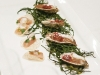 Oysters with chocolate, and tuna crudo