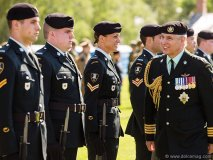 His Royal Highness The Duke of York inspects the parade before joining its march to Fort York