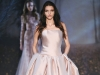 A dropped waist adds a touch of the unexpected to this bubble gown. Rose-hued and luminous, it's a testament to the label's union of innocence and allure