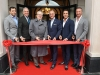 Celebrating The Randall Residences' Ceremonial Opening and Ribbon-Cutting are (L-R) GeoFocus Construction Management's Adam Altobelli, master architect Richard Wengle, Town of Oakville Mayor Rob Burton, Melrose Investments' President Silvio Guglietti, Rosehaven Homes' President Marco Guglietti and Riccardo Guglietti