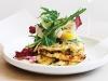 Warm mozzarella Salad with radicchio and rocket
