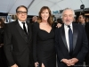 David O. Russell, Jane Rosenthal, and Robert De Niro attend the 26th Annual Screen Actors Guild Awards at The Shrine Auditorium | Photo by Kevin Mazur