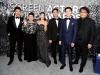 Kang-ho Song, Hye-jin Jang, Ji-so Jung, Sun-kyun Lee, Woo-sik Choi, and Bong Joon Ho attend the 26th Annual Screen ActorsGuild Awards at The Shrine Auditorium | Photo by Kevin Mazur