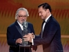 Robert De Niro accepts the Screen Actors Guild Life Achievement Award from Leonardo DiCaprio onstage during the 26th Annual Screen Actors Guild Awards at The Shrine Auditorium | Photo by Kevork Djansezian