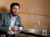 Chef-turned-entrepreneur  Scott Conant enjoys an espresso at one  of his restaurants, Scarpetta Toronto.