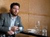 Chef-turned-entrepreneur  Scott Conant enjoys an espresso at one  of his restaurants, Scarpetta Toronto.