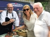 Chef Massimo Capra with Marilena Latifi and her father Isidoro Russo