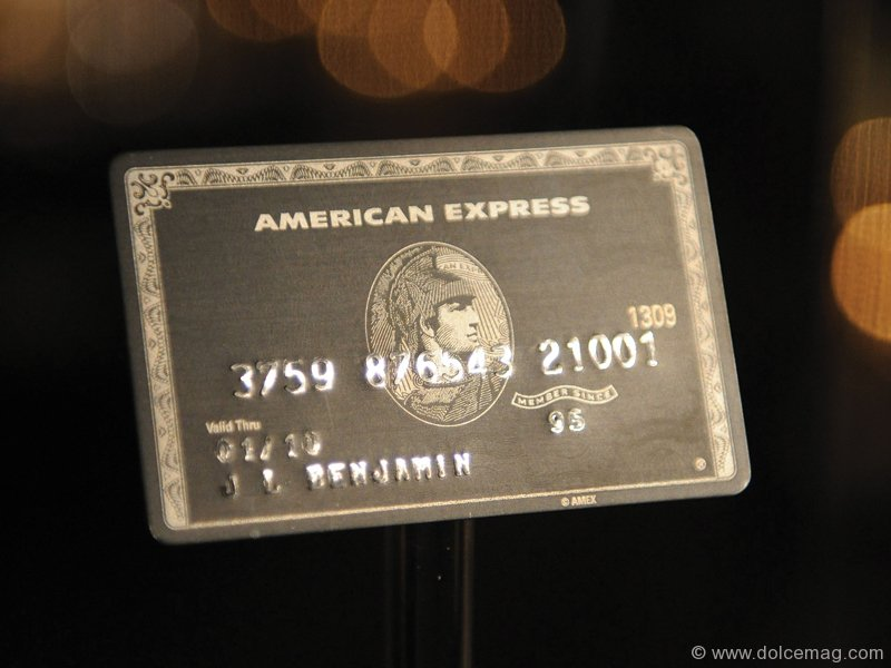American Express Black Card: By Invitation Only | Dolce ...
