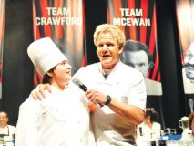 Gordon Ramsay gets some timely advice from an up-and-coming chef.