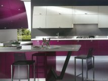 Out-of-this-world geometric patterns result in an environment that can inspire even the worst cook. This featured kitchen and other stunning designs are available through the Scavolini catalogue.