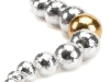 Zealously marketing some of the finest jewelry in the world today, legendary Canadian company Birks features this bead bracelet in sterling silver and 18-karat yellow gold as part of its Luna Collection.