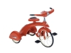 You want your kid to be the coolest one on the block, right? The candy apple red paint on this high-quality steel tricycle with chrome insignias and solid rubber tires will do the job.