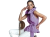 Neck-high in fashion, this lilac, ruffled collar blouse with cinched bow waist is one of the reasons Cartise has been on the scene for 35 years.