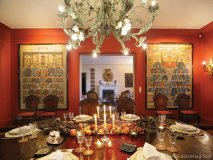This dining room\'s decor is just as divine as the soon-to-be served meal. Photo courtesy of Burger Sotheby\'s International Realty