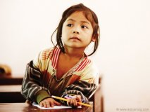 Five-year-old Nit holds a special place in Adam Braun's heart. She is one of the first students to receive education at Pencils of Promise's very first school in Pha Theung Preschool in Laos.