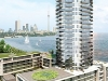 The consummation of Monarch Group's Waterview project, the glass tower of  Waterscapes gazes out over  the crystal Etobicoke shoreline.