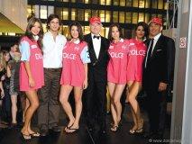 Beautiful models surround Martin Jauregui, Fernando Massalin Sr. and Kevin Brown.