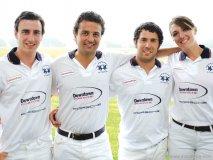Fernando Massalin Jr., Eduardo L. Bérèterbide, Alfredo Boden and Rebecca Castaneda team up for an intense polo match.