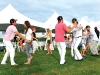 Enthusiastic guests and polo players take to the field to show off their moves and have some fun.