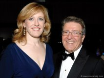 Minister of Natural Resources Lisa Raitt and Robert Deluce (president of Porter Airlines)
