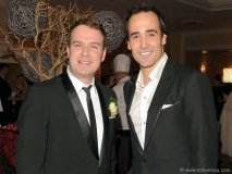 Author Anthony De Sa with celebrity chef and author David Rocco Photo by George Pimentel Photography