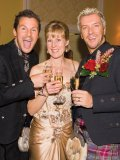 Cheers to President of Toronto Public Library Foundation Heather Rumball Colin and Justin
