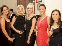 Linda Kitchen; Lindsay Berry; Kelly Barnicke; Dee Dee Hannah and Angela Feldman celebrate at the Bloor St. Entertains charity dinner, hosted by Rémy Martin Cognac and Ferrari Maserati of Toronto.