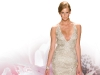 Dance the night away in this delicate silver spiral beaded tulle dress.