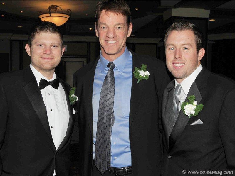 Adam Lind (left fielder for Toronto Blue Jays), Bobby Smith (former NHL great) and Jeremy Accardo (Blue Jays)