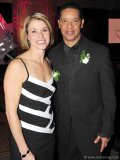 Catriona Le May Doan and Damon Allen