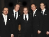 Keith Pelley (president CTV-Rogers Olympic consortium) with The Canadian Tenors