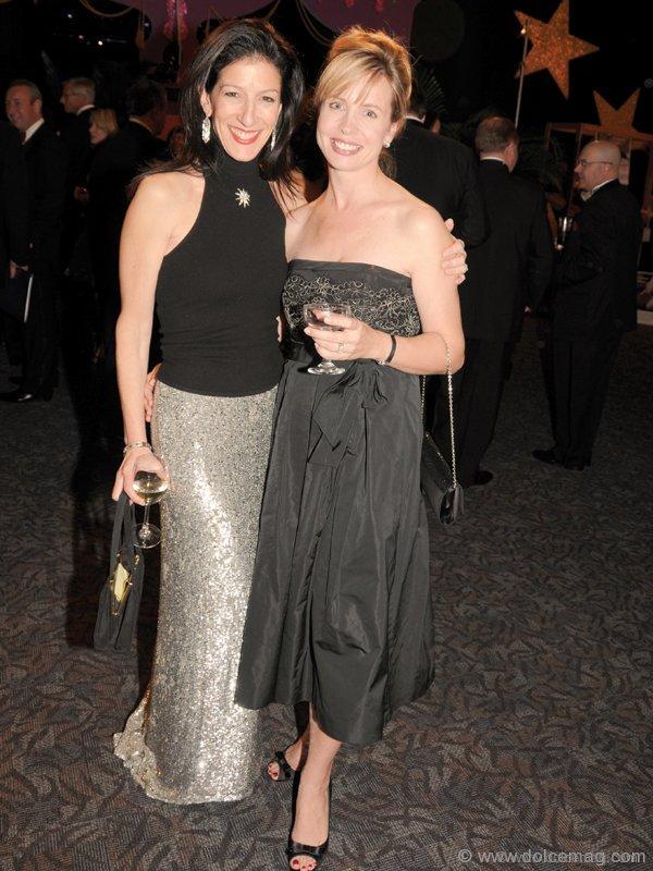Andrea Hopson (vice president Tiffany & Co., sponsor of the Tiffany bear raffle) and Carolyn Starshuk MacLean (president Canadian Children's Opera Company)