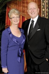 Michael Roach (president and CEO CGI) with wife, Deborah