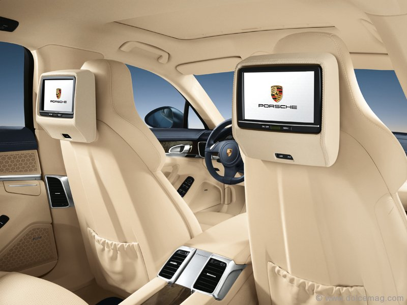 The Panamera 4S Offers An Optional Rear Seat Entertainment System For Long Road Trips