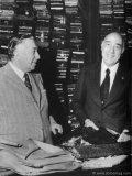 The founding fathers of Brioni: Nazareno Fonticoli, a master tailor, and Gaetano Savini, an entrepreneur who established the Brioni tailor shop on Via Barberini in Rome.
