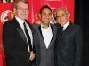 Co-chairs Rick Muller and Fred Levy with comedian and evening host Russell Peters (centre).