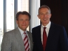 Venture capitalist Robert Herjavec with past Prime Minister of Great Britain, Tony Blair.