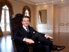 Kicking back at home, Robert Herjavec's grand ballroom is the setting for star-studded events and charity fundraisers.