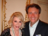 Venture capitalist Robert Herjavec with comedian, Joan Rivers.
