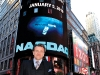Herjavec rings the closing bell for NASDAQ in early 2010.
