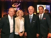 comedian gerry dee heather donoghue the right hon brian mulroney and ben mulroney host of ctvs etalk
