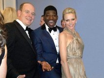 Subban has Prince Albert II, the Prince of Monaco, and his wife, Princess Charlene, Joëling at  the Ritz-Carlton Montreal's 100th  anniversary gala on Oct. 26, 2012