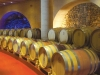 French oak barrels line the walls of this state-of-the-art facility.